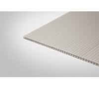 Сотовый поликарбонат Полигаль 6,0 мм 2100x12000 м серебристый 18% ГОСТ