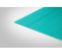 Сотовый поликарбонат КОЛИБРИ 6,0 мм 2100x3000 м бирюзовый 52%