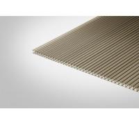 Сотовый поликарбонат КОЛИБРИ 4,0 мм 2100x12000 м бронзовый 42%