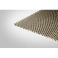 Сотовый поликарбонат КОЛИБРИ 6,0 мм 2100x3000 м бронзовый 42%