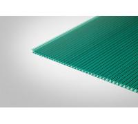 Сотовый поликарбонат Полигаль 8,0 мм 2100x12000 м зеленый 42% ГОСТ