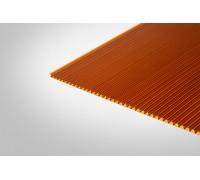 Сотовый поликарбонат Полигаль 10,0 мм 2100x12000 м янтарный 25% ГОСТ