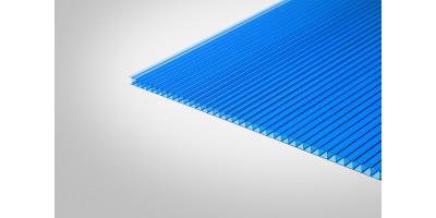 Сотовый поликарбонат КОЛИБРИ 6,0 мм 2100x3000 м синий 30%