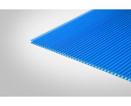 Сотовый поликарбонат Полигаль Практичный 8,0 мм 2100x6000 м синий 30%
